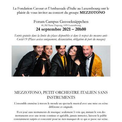 MEZZOTONO, PETIT ORCHESTRE ITALIEN SANS INSTRUMENTS